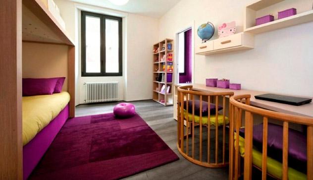 Decoración en púrpura